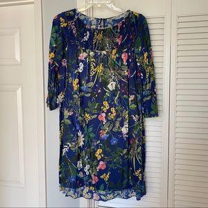 Zara Blue Floral Mini Dress